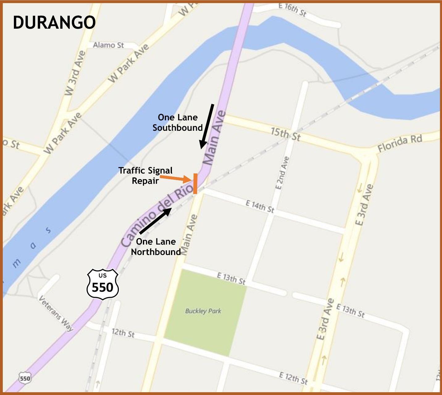 US 550 closures detour