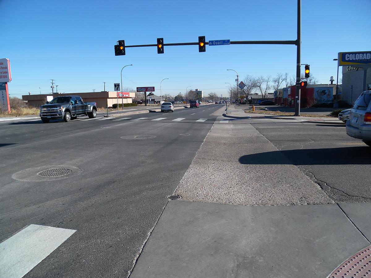 Eastbound Colfax Street