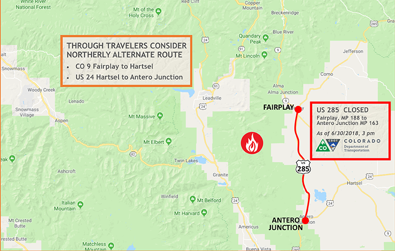 Weston Pass Fire 285 Closure 6_30.png