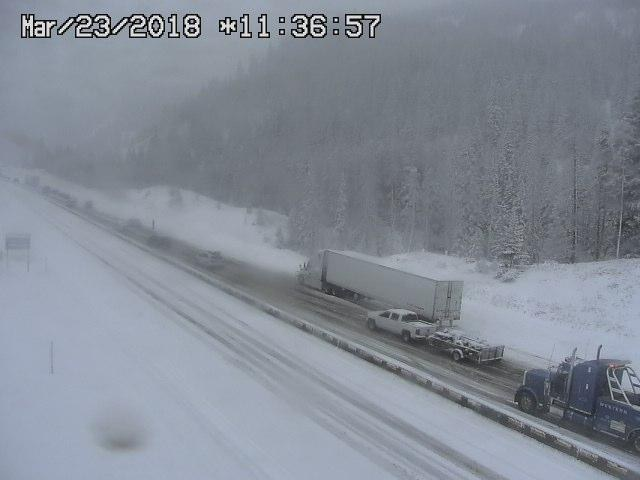 Travelers on I-70 near Vail and Copper Mountain