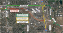 Map: Eastbound C-470 at Quebec to I-25 closure thumbnail image