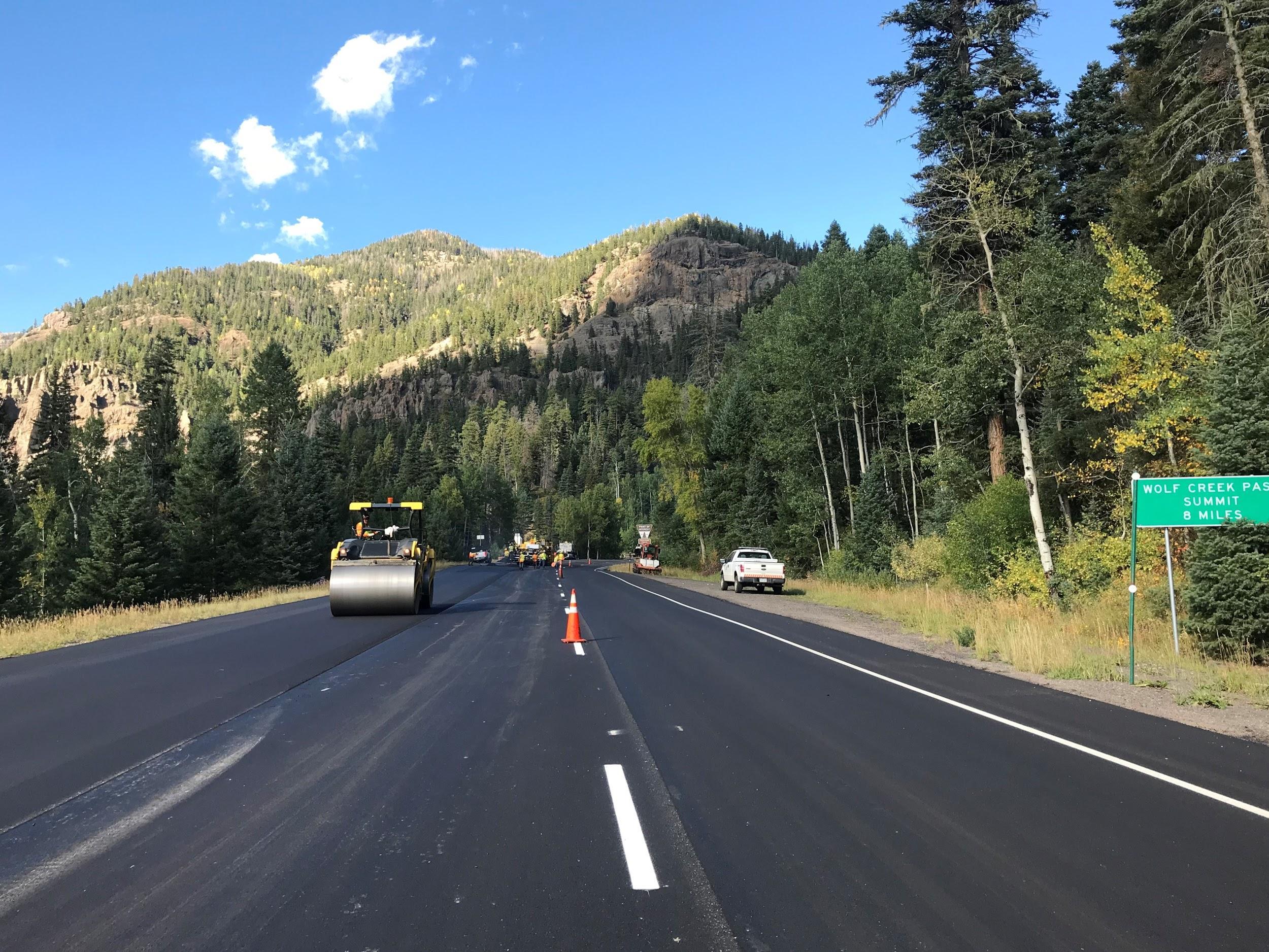 55,000 tons of new asphalt on US 160.jpg detail image