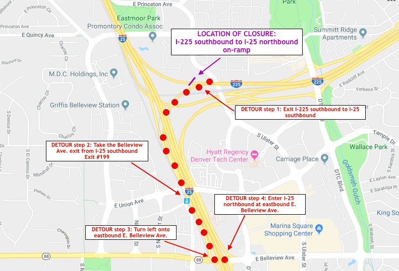 Sunday night ramp closure from southbound I-225 to northbound I-25.png detail image