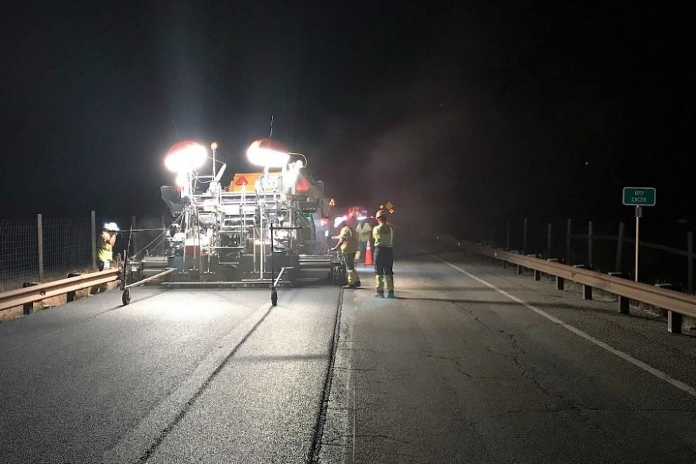 US 160 night construction.jpg detail image