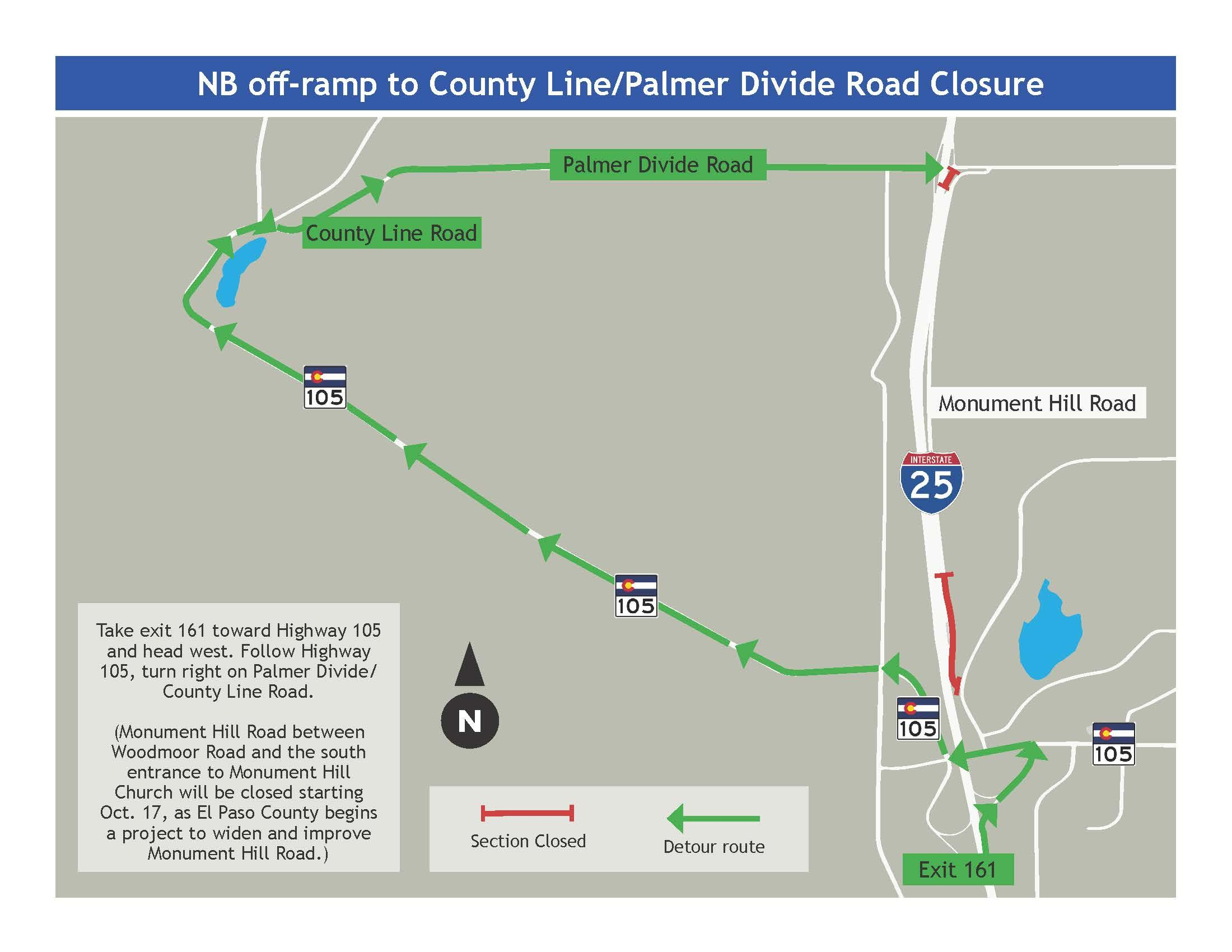 Northbound Off-Ramp to County Line Road Closed