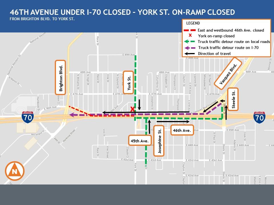 York on-ramp closure