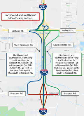 I-25 off-ramps from Prospect Closure Detour FINAL.PNG