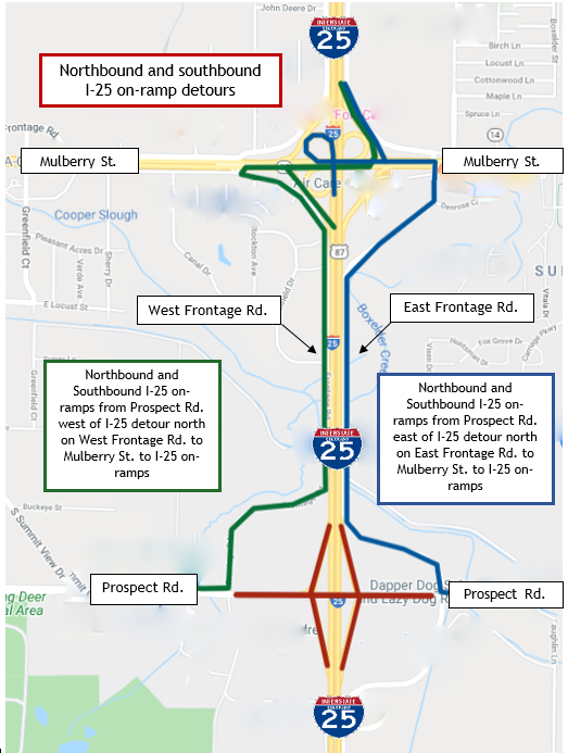 I-25 on-ramps from Prospect Closure Detour FINAL.PNG