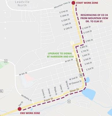 US 24 Leadville Project map