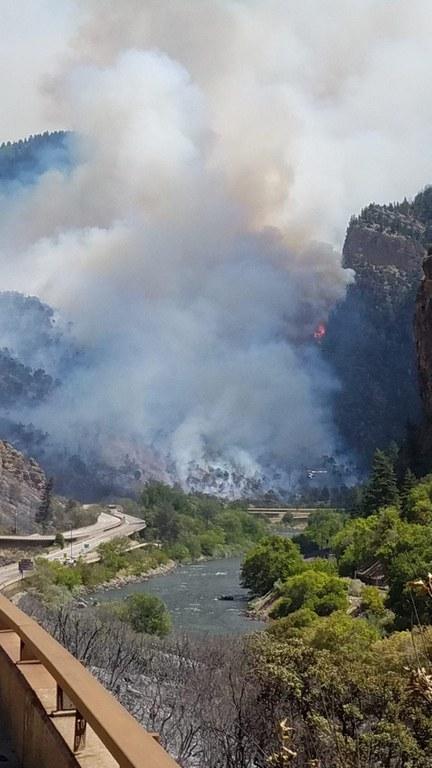 Grizzly Creek Fire smoke