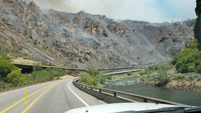 Grizzly Creek Fire - River