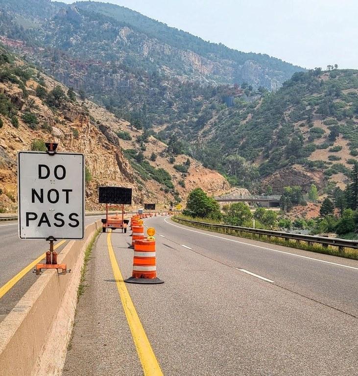 I-70 Do not Pass Sign