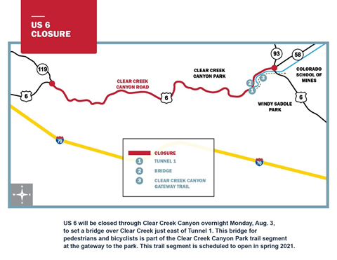 US 6 Clear Creek Canyon Map