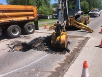 Carbondale Sink Hole Road Work