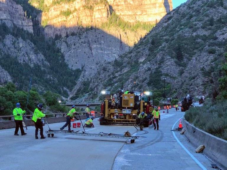 I-70 Glenwood Canyon June Paving