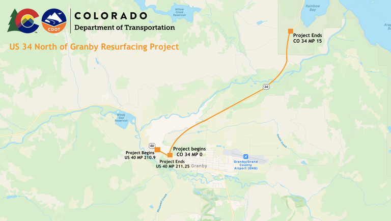 US 34 Resurfacing Project Map