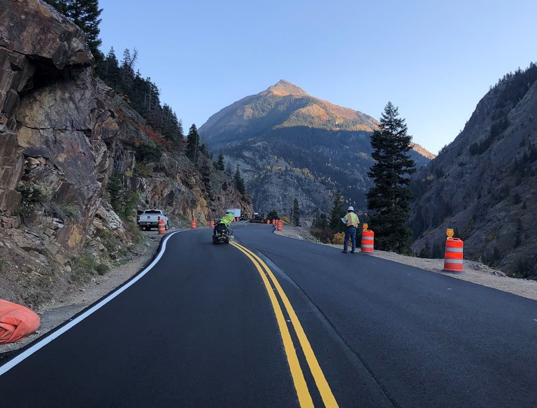 CO 145 finished roadway