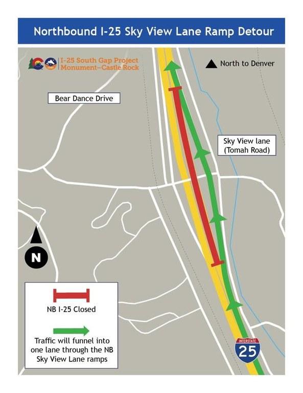 NB I-25 Detour