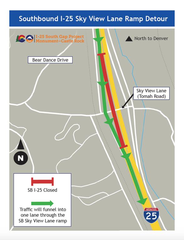I-25 Detour Map 1