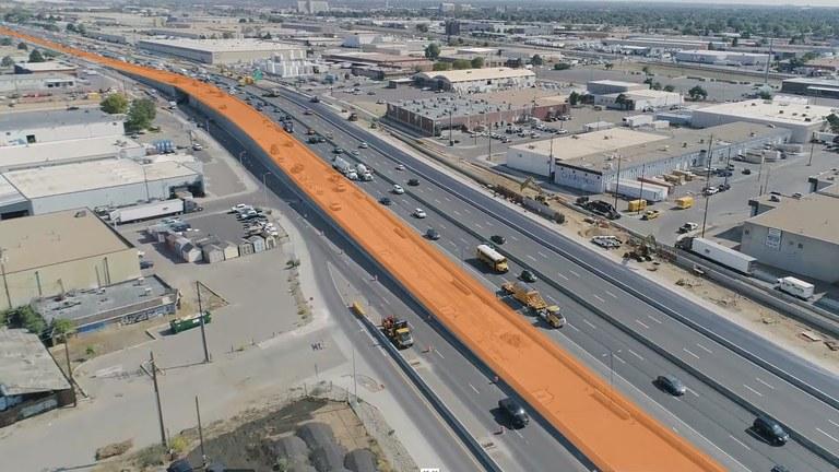 Traffic shift on I-70