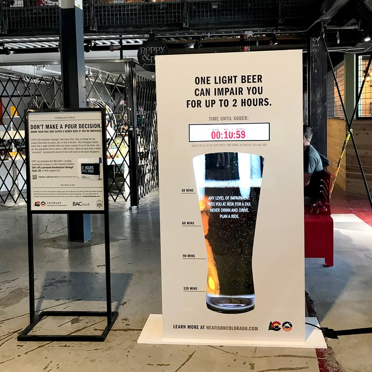 Beer display sign