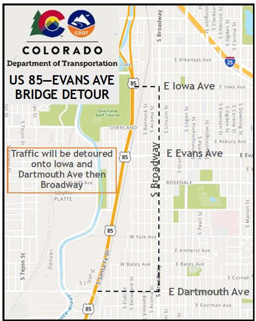 US 85 Evans Map 2
