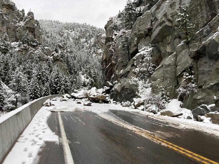 CO 119 Rockfall roadway