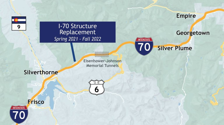 I-70 Structure Project Map