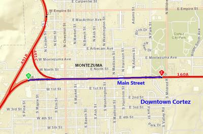 US 160 Downtown Cortez
