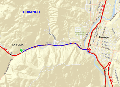 US 160 Concrete Repair Map