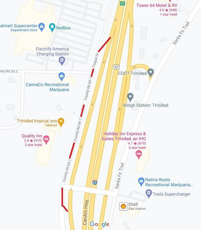 I-25 Exit 11 Project Map