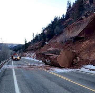 Co 145 fallen rock