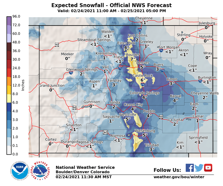 Expected Snowfall Graphic
