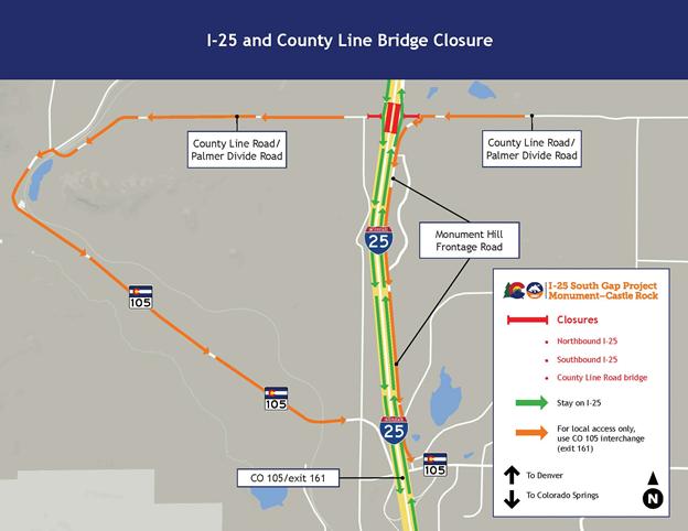 County Line Road Bridge Map