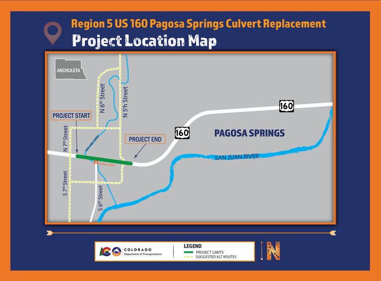US 160 McCabe Creek Project Map