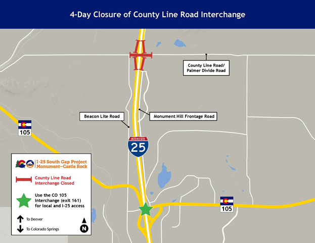 County Line Road Closure Map