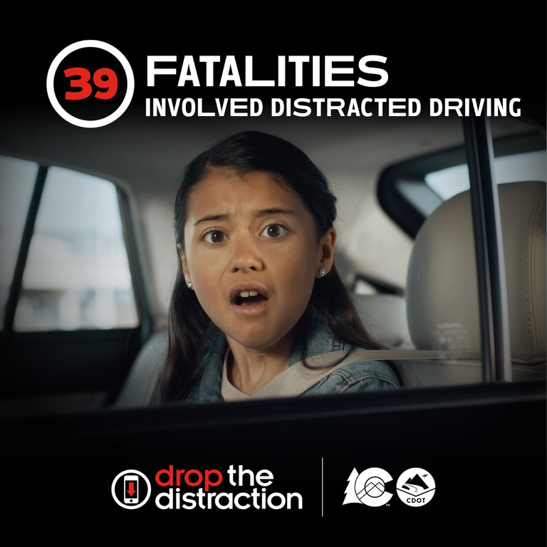 Distracted driving girl