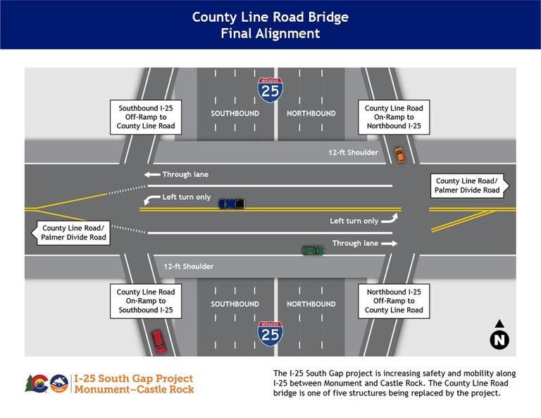 County Line Bridge Map