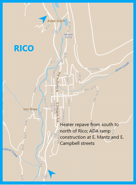 CO 145 Rico Map