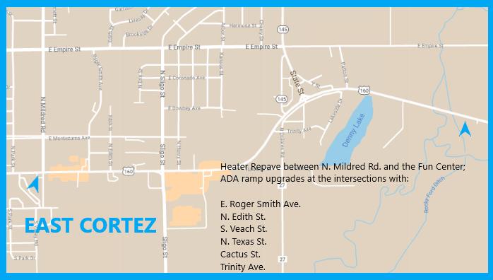 US 160 E. Cortez Map