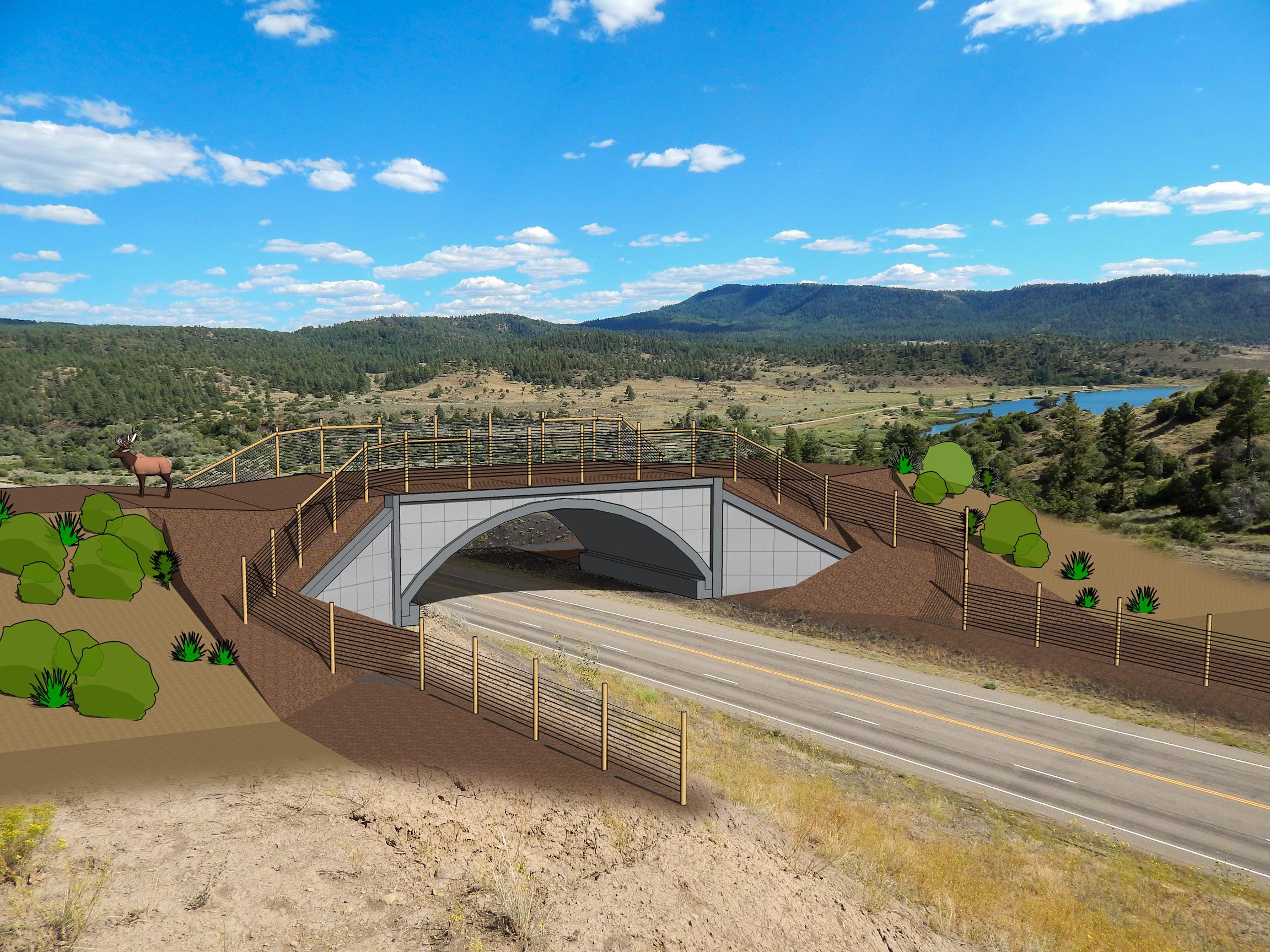 US 160 Wildlife Crossings_Artist Rendering.jpg detail image