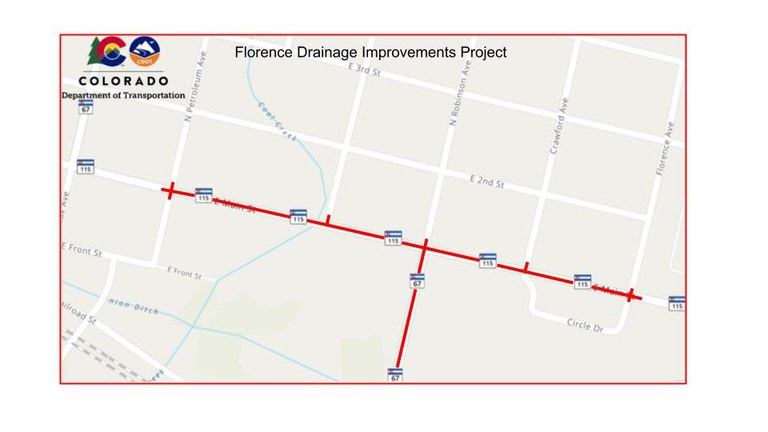 Florence Work Zone Map