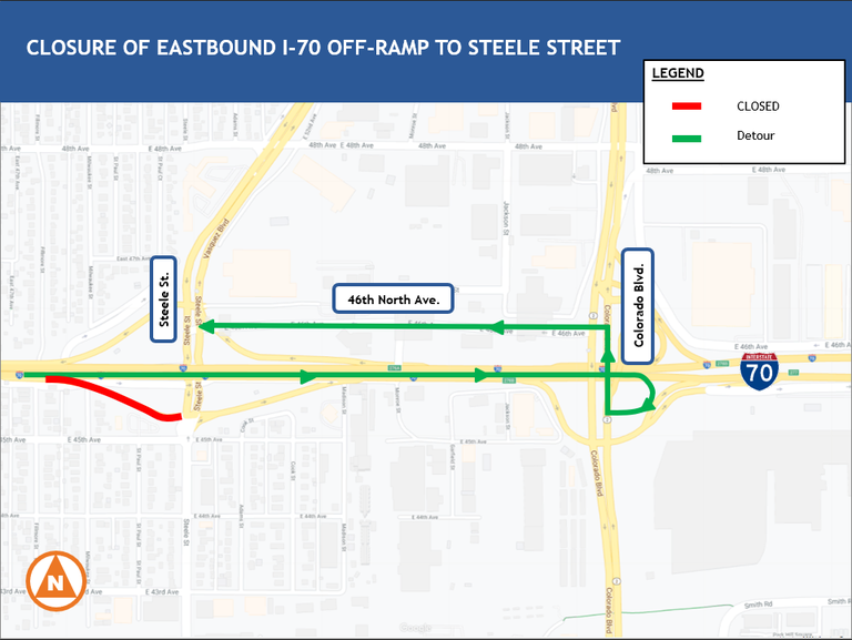 46th Ave. closure map