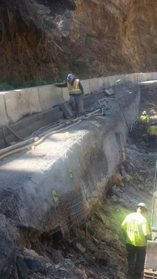 US 550 Red Mtn. Pass crib wall near MP 88 – under reconstruction