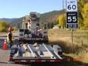 Crews Haul Signs on US 550 North of Durango thumbnail image