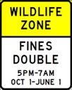 Wildlife Zones Sign thumbnail image