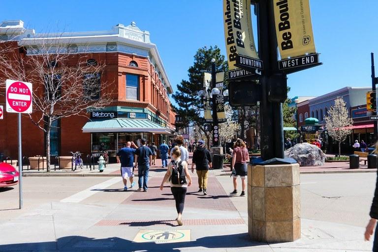 Crosswalk in Boulder