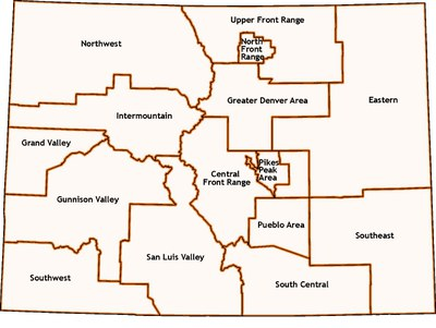 Map of Colorado's Tranportation Project Regions