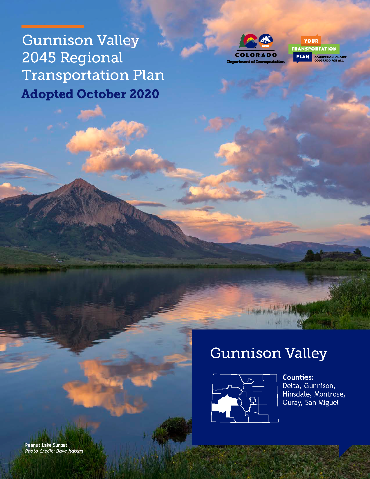 Gunnison Valley Regional Transportation Plan 2045 Cover