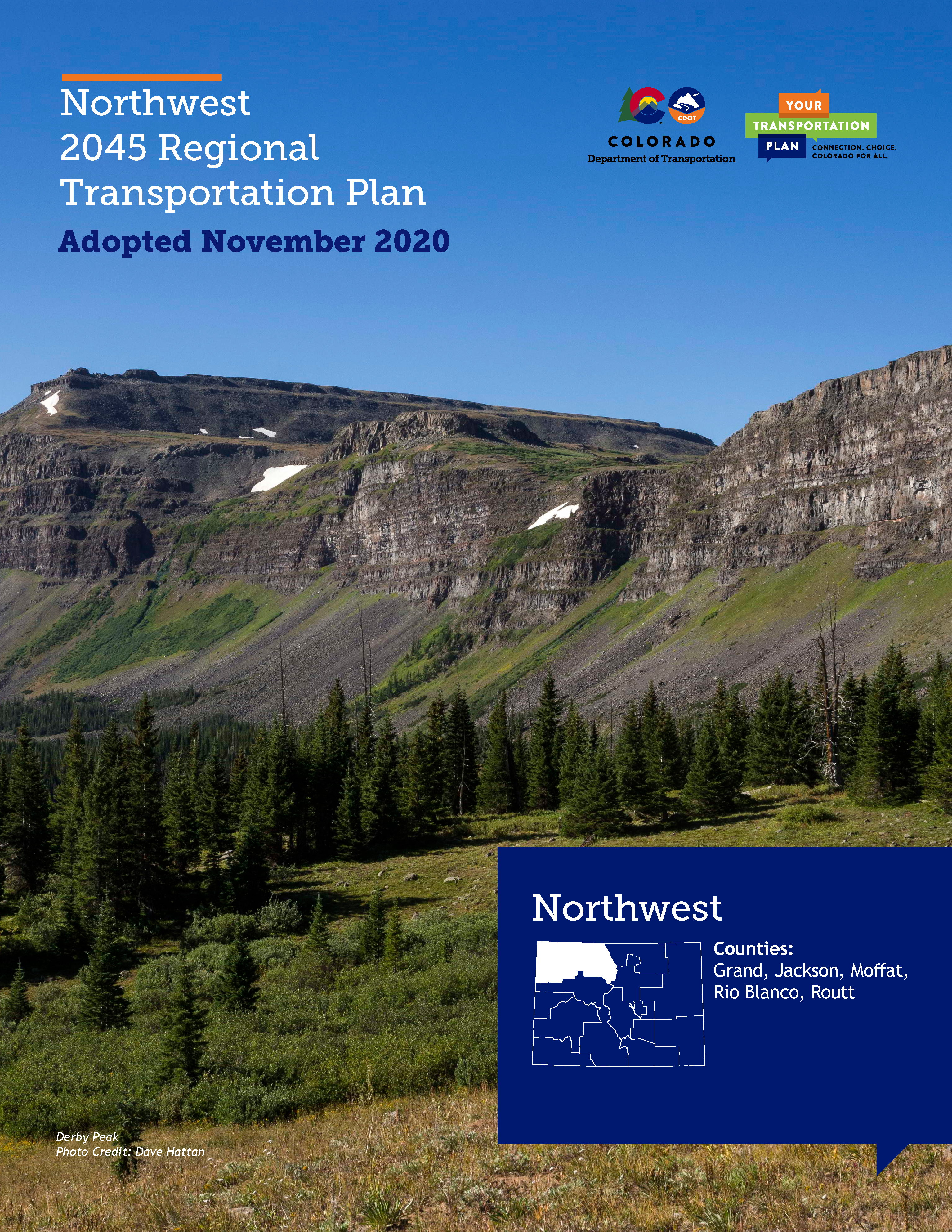 Northwestern Regional Transportation Plan 2045 Cover